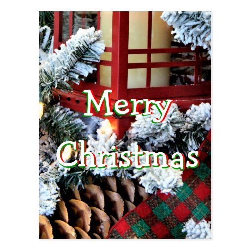 A Christmas Lantern 1558-1- -personalize it Postcard