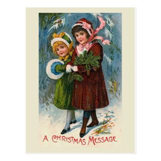 """""""A Christmas Message"""" Postcard"""