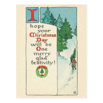 A CHRISTMAS MESSAGE POSTCARD
