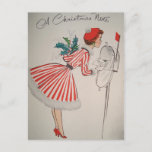 """A Christmas Note Vintage Retro Postcard<br><div class=""""desc"""">""""A Christmas Note"""" Vintage Retro Christmas Postcard. This Christmas send your warm wishes to friends and family with this postcard.</div>"""