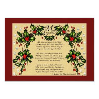 A Christmas Prayer Card at Zazzle