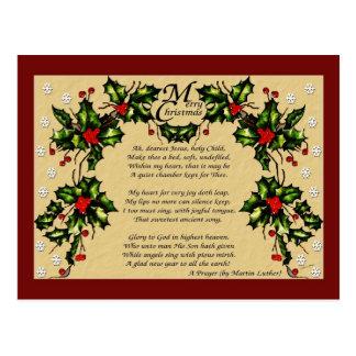 A Christmas Prayer Postcard