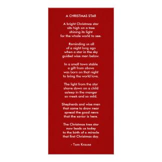 A CHRISTMAS STAR FULL COLOR RACK CARD
