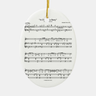 A Christmas Story Music Sheet Ceramic Ornament