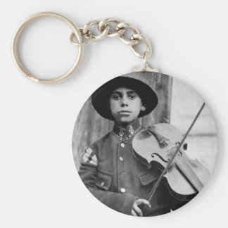 A Christmas street fiddler, Belgrade_War Image Keychain