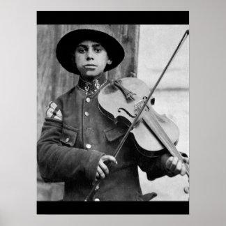 A Christmas street fiddler, Belgrade_War Image Poster