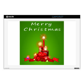 A christmas template with candles decals for laptops
