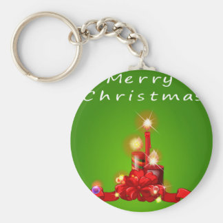 A christmas template with candles keychain