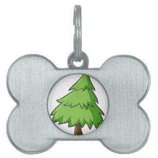 a christmas tree pet ID tags