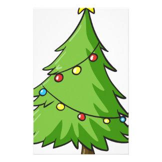 a christmas tree stationery