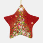 A Christmas tree that glows. Ceramic Ornament