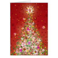 A Christmas tree that glows. Greeting Cards