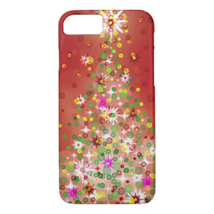 a christmas tree that glows iphone 87 case