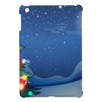 A christmas tree with bright balls iPad mini cases