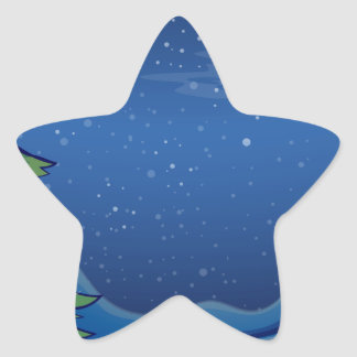 A christmas tree with bright balls star sticker