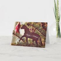 A CHRISTMAS TROT 5x7 Greeting Card