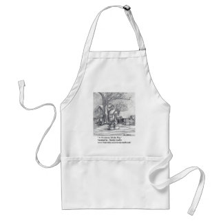 """"""" A Christmas Winter Day """" Apron"""