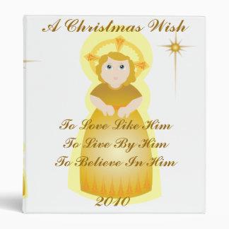 A Christmas Wish- Customize 3 Ring Binder