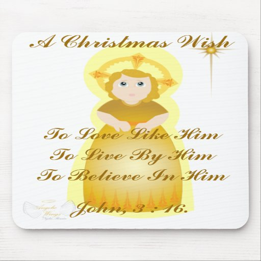 A Christmas Wish- Customize Mouse Pad