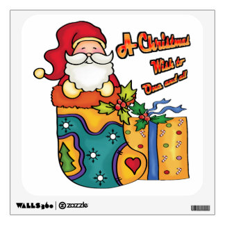 A Christmas wish to one and all Wall Decal