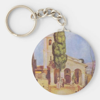 A Church at Cagnes by Pierre-Auguste Renoir Keychain