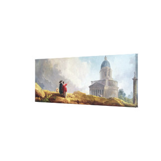 A Church Displayed to a Traveller in an Extensive Canvas Print