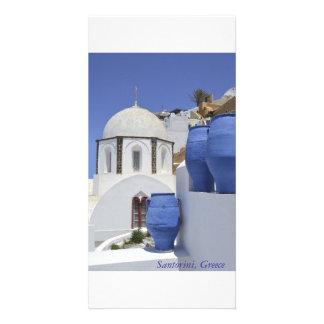 A church in Santorini, Greece Photo Greeting Card