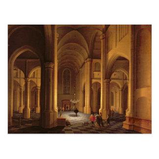 A Church Interior Postcard