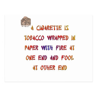 A cigarette is ... postcard