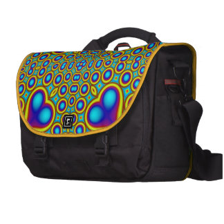 A Circle and hearth pattern Laptop Commuter Bag