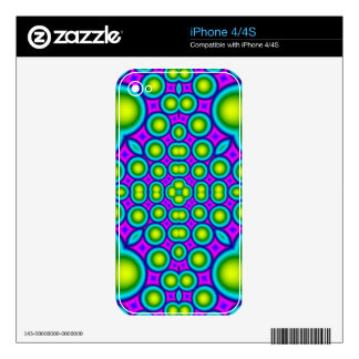 A Circle and hearth pattern Decals For The iPhone 4