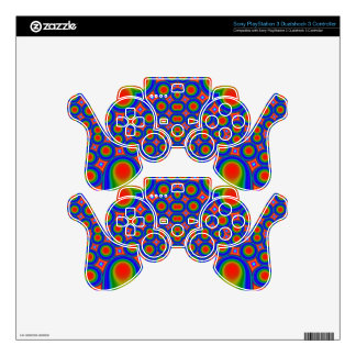 A Circle and hearth pattern PS3 Controller Decals