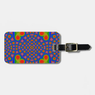 A Circle and hearth pattern Tag For Luggage