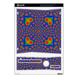 A Circle and hearth pattern Xbox 360 S Console Decal