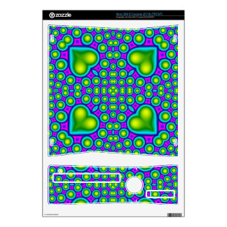 A Circle and hearth pattern Xbox 360 S Console Skins