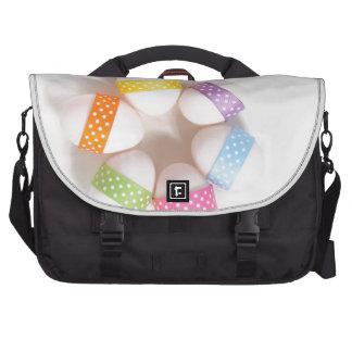 A Circle of Decorated Easter Eggs Laptop Commuter Bag