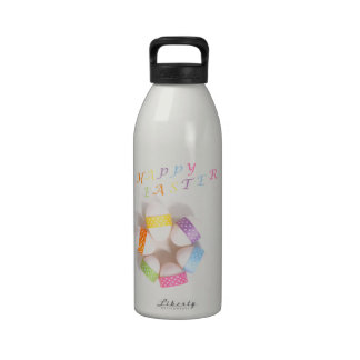 A Circle of Decorated Easter Eggs Reusable Water Bottle