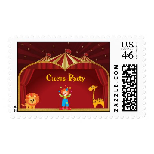 A Circus Party Postage