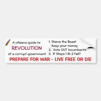 A citizens guide to, REVOLUTION Bumper Sticker