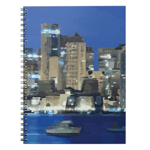 A City of Sparkling Lights over the Bay Note Book