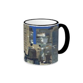 A City of Sparkling Lights over the Bay Ringer Coffee Mug