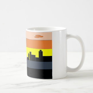 A city on the the colorful horizon coffee mug