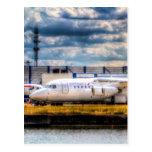 A CityJet BAE RJ 85 at London city Airport Postcards