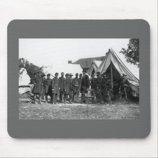 A Civil War Photo - Lincoln Adressing Men Mouse Pad