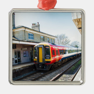 A Class 158, Romsey Station Metal Ornament