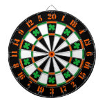 A Classic Game of Darts Shamrocks Irish Colors Dartboard With Darts