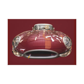A classic Jaguar E-Type from 1961 Canvas Print