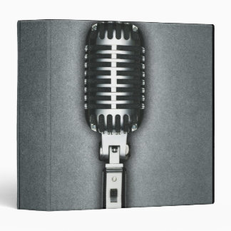 A Classic microphone 3 Ring Binder