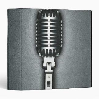 A Classic microphone 3 Ring Binder