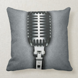 A Classic microphone Throw Pillow